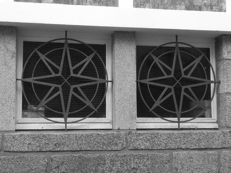 Protección de ventanas y metal. Foto de archivo