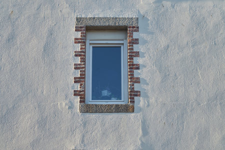 Wall plaster and small window. Stock Photo - 122940000