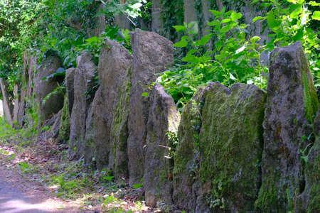 Granite barrier.