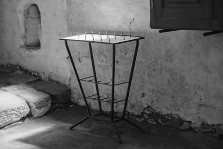 Old metal candle holder.
