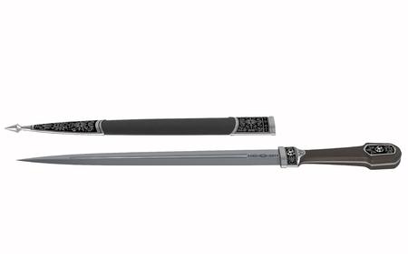 Chechen dagger - weapon of the Caucasus - 3d illustration