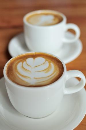거품 패턴으로 카페 라 떼