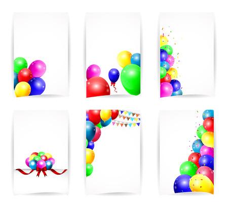 achtergrond met kleurrijke ballonnen