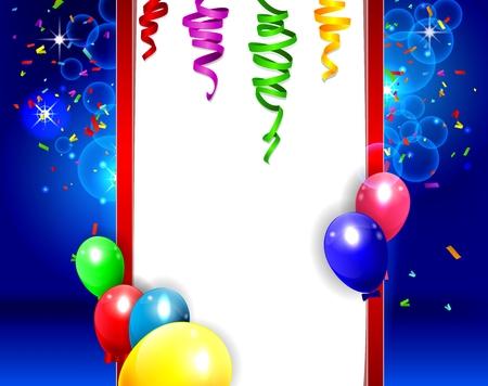 Verjaardag achtergrond met kleurrijke ballonnen illustratie Stockfoto - 41617912