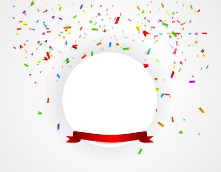 verjaardag achtergrond met kleurrijke ballonnen illustratie Stock Illustratie