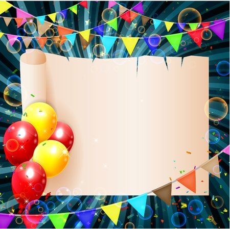 birthday background: birthday background with colorful balloons Illustration