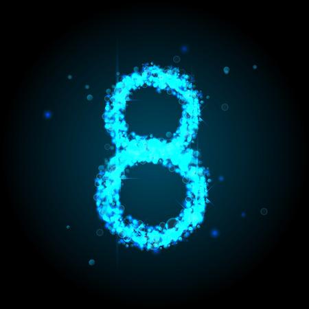 currency glitter: Number of light glittering stars illustration Illustration