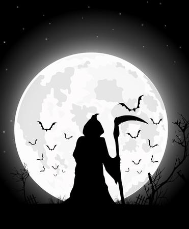 horrid: halloween scary man of illustration.
