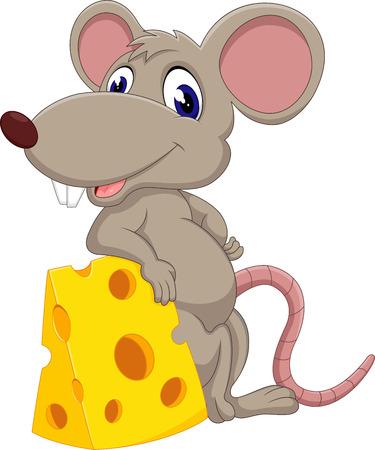 ratones: linda de la historieta del ratón de la ilustración Vectores