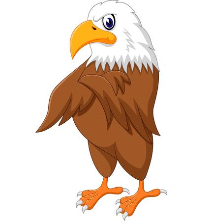 posing: Eagle cartoon posing of illustration Illustration
