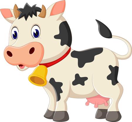 vaca: ilustración de dibujos animados Vaca linda