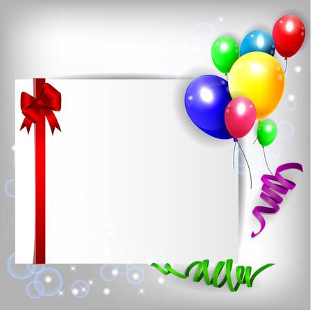 verjaardag achtergrond met kleurrijke ballonnen Stockfoto