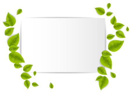 folio: realistic leaf Stock Photo