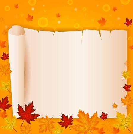 season: Season frame with autumn leaf