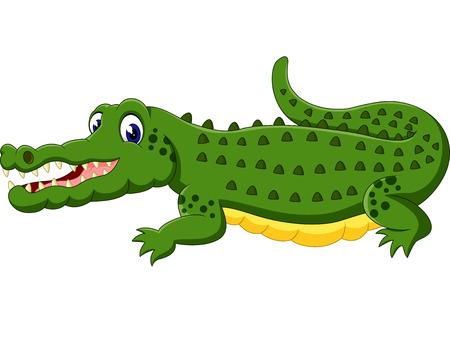timid: cute Crocodile cartoon of illustration