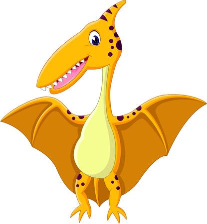 pterodactyl: Happy pterodactyl cartoon of illustration Stock Photo