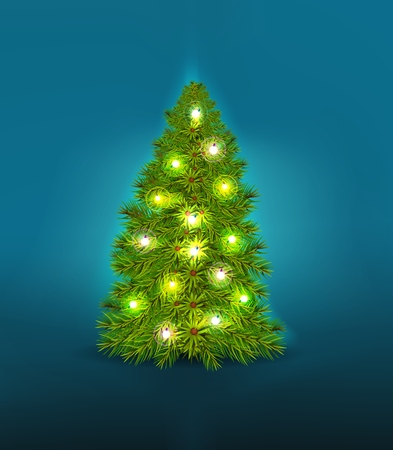 christmas tree illustration: christmas tree background of illustration
