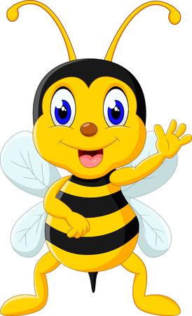 abeja reina: Bee cartoon flying