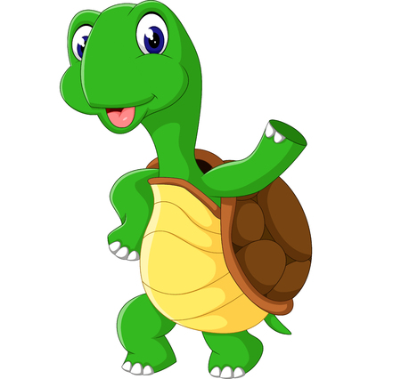 cute cartoon: Cute cartoon turtle