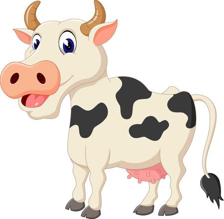 Cute cow cartoon Banque d'images