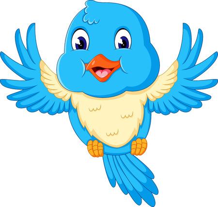 art icons: Illustration of happy Flying bird