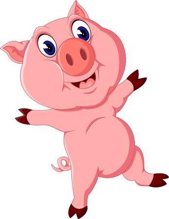 cute pig: Cute pig cartoon posing