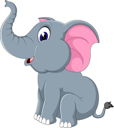 cute cartoon: Cute elephant cartoon Illustration