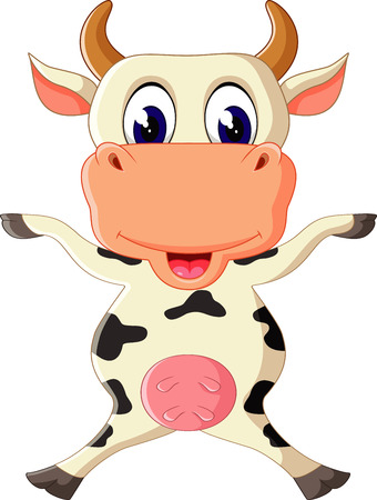 young cow: Cute cow cartoon Illustration