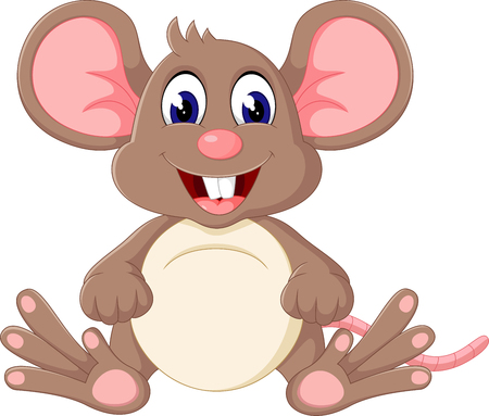 happy baby: Cute baby mouse cartoon