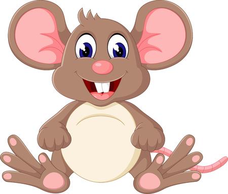 ratones: dibujo animado del ratón lindo bebé