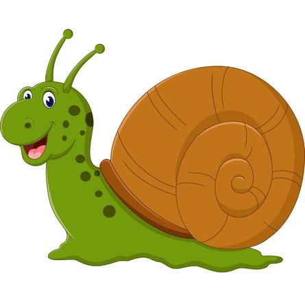 dna smile: Cute snail cartoon Illustration