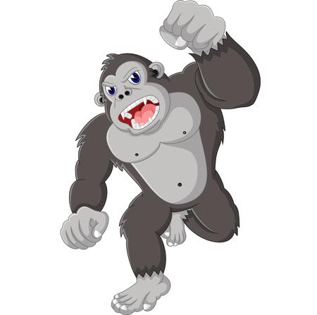 king kong: gorilla cartoon Illustration
