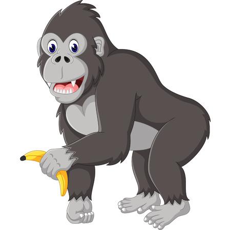 Angry cartone animato gorilla Vettoriali