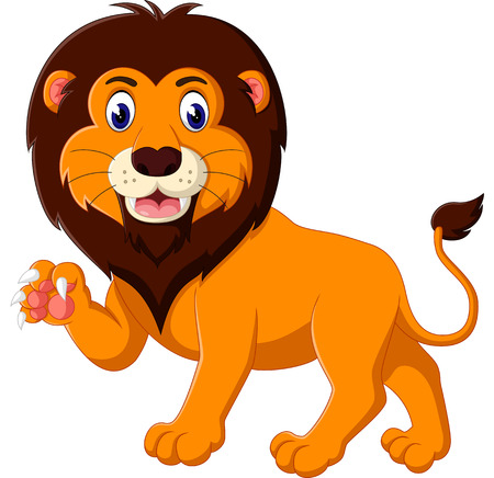 lion king: Cartoon lion roaring Illustration