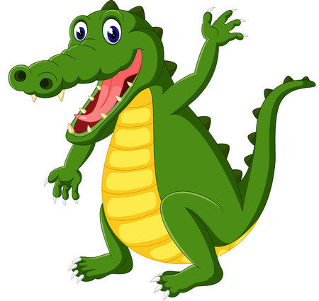 cute cartoon: Cute crocodile cartoon Stock Photo