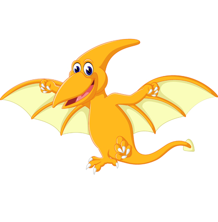 pterodactyl: Happy pterodactyl cartoon