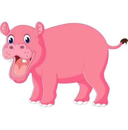 hipopotamo cartoon: Historieta linda del hipopótamo Foto de archivo
