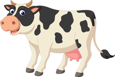 Glückliche Comic-Kuh