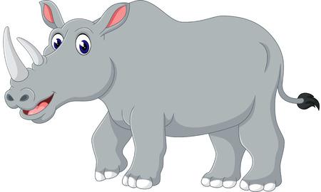 baby smile: Cartoon rhino Illustration