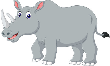 arte africano: rinoceronte de dibujos animados