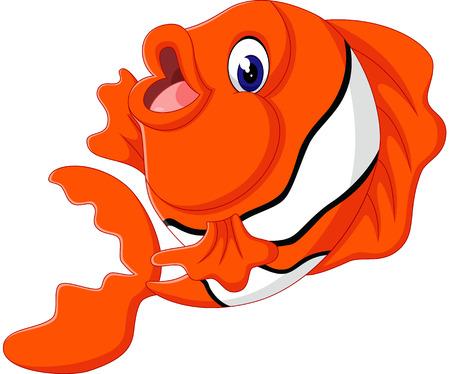 sea fish: Cute fish cartoon Illustration