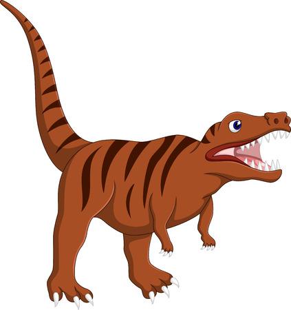 tyrannosaur: Angry tyrannosaurus cartoon Illustration