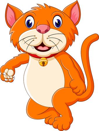 roaring: Cute tiger cartoon roaring