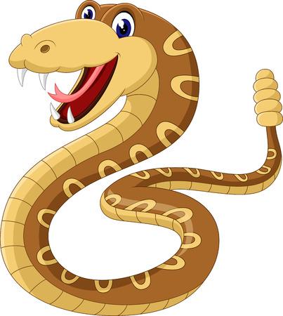 rattle snake: Cartoon rattlesnake Stock Photo