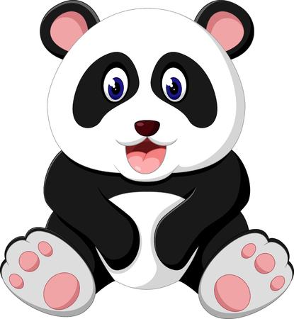 Cute panda cartoon 일러스트
