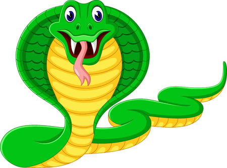 child tongue: Angry cobra cartoon