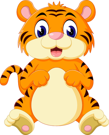 tigre bebe: lindo beb� de dibujos animados tigre