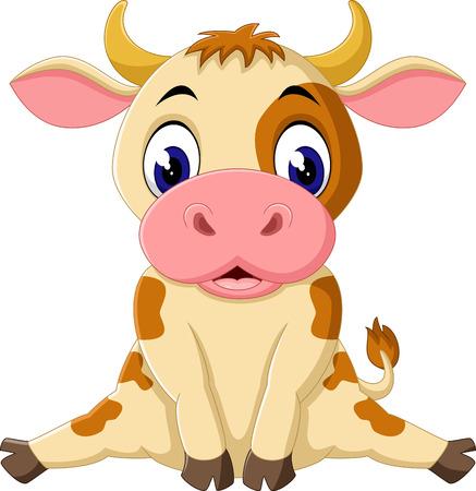 udders: cute baby cow cartoon