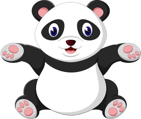 cute cartoon: cute baby panda cartoon
