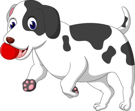 ilustración de dibujos animados lindo del perro
